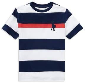 Polo Ralph Lauren Boys' Cotton Striped Big Pony Tee - Big Kid