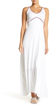 Letarte Sleeveless Embroidered Maxi Dress