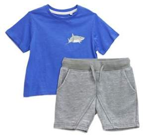 Sovereign Code Little Boy's Two-Piece Shark Tee and Shorts Set