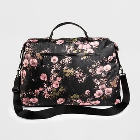 Mossimo Supply Co. Women's Floral Nylon Weekender Handbag - Mossimo Supply Co. Black/Blush