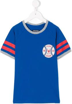 Woolrich Kids logo baseball print T-shirt