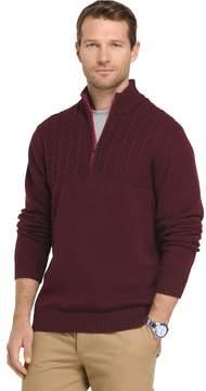 Izod Men's Newport Regular-Fit Cable-Knit Quarter-Zip Pullover