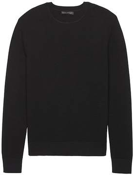 Banana Republic SUPIMA® Cotton Waffle-Knit Crew-Neck Sweater
