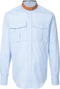 Loewe leather collar shirt