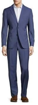 Black & Brown Black Brown Windowpane Two Piece Suit
