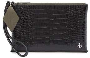 Rag & Bone Croc Embossed Leather Wristlet Pouch