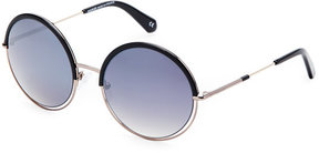 Balmain BL2513 Black XL Round Sunglasses