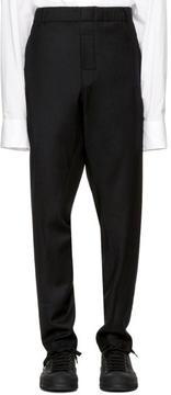 Ann Demeulemeester Black Elastic Waist Trousers