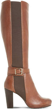 Dune Ladies Brown Classic Sebb Buckled Leather Boots