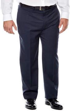 Claiborne Blue Neat Flat-Front Suit Pants - Big & Tall