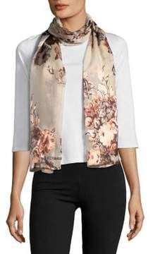 Vince Camuto Sheer Rose-Print Scarf