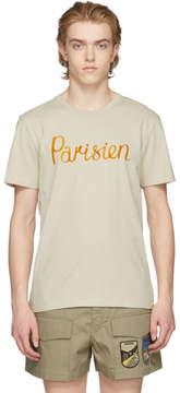 MAISON KITSUNÉ Beige Parisien T-Shirt
