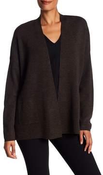 Eileen Fisher Pocketed Drop Shoulder Merino Wool Cardigan