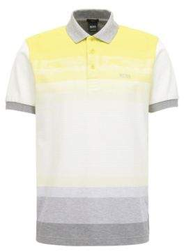 BOSS Hugo Colorblock Polo Shirt, Slim Fit Paule L Yellow