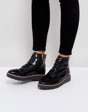 London Rebel Lace Up Ankle Boot