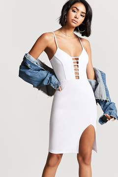 Forever 21 Plunging Ladder Bodycon Dress