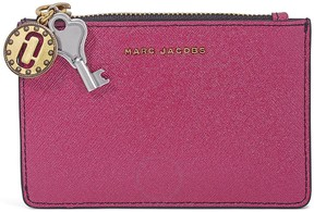Marc Jacobs Saffiano Leather Wallet- Pink