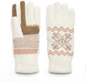 Isotoner Women's Snowflake Chenille Tech Gloves