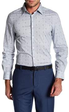 Perry Ellis Long Sleeve Floral Printed Stretch Fit Shirt