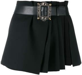 Alexander McQueen pleated wrap mini skirt