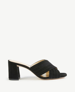 Ann Taylor Honor Suede Heeled Sandals