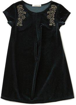 Copper Key Little Girls 2T-6X Metallic-Embroidered Velvet Dress