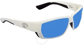 Costa del Mar Tuna Alley Large Fit Blue Mirror Glass Rectangular Sunglasses TA 25 OBMGLP