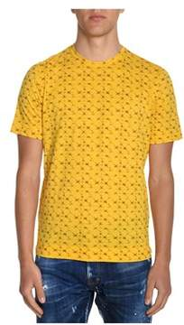 H953 Men's Yellow Cotton T-shirt.