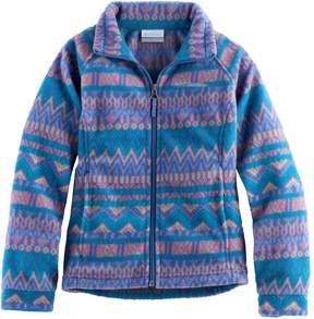 Columbia Girls 4-16 Midweight Printed Fleece Jacket
