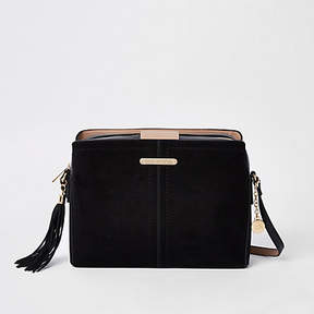 River Island Black contrast bucket cross body bag