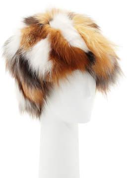 Adrienne Landau Patchwork Fur Hat