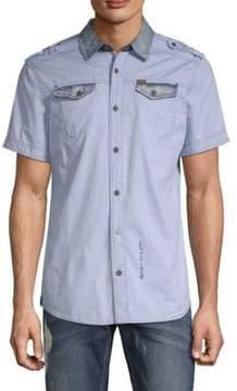 Buffalo David Bitton Sorim Cotton Button-Down Shirt