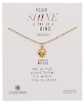 Dogeared 14K Gold Vermeil Your Shine Skull Flower Bracelet