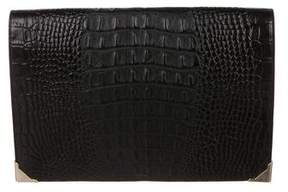 Alexander Wang Embossed Leather Flap Clutch