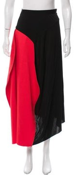 Celine Colorblock Asymmetrical Skirt w/ Tags