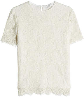 Victoria Beckham Laced Silk and Wool-Blend Top
