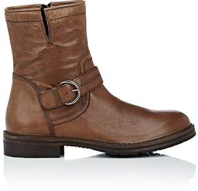 Barneys New York MEN'S WASHED LEATHER MOTO BOOTS