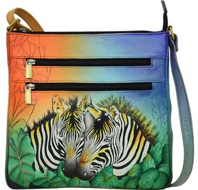Anuschka Anna By ANNA by Hand Painted Medium Organizer Crossbody 8296 (Women's)
