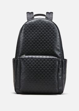 Emporio Armani all-over print calfskin backpack