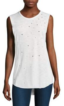 Feel The Piece Stars Cut-Off Tank