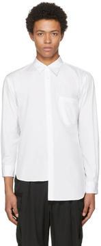 Comme des Garcons White Asymmetric Shirt