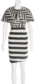 Christian Siriano Mixed Pattern Dress Set