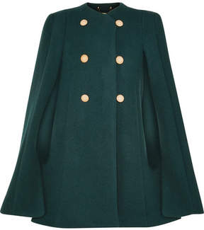 Chloé Wool And Mohair-blend Cape - Green