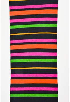 Marc by Marc Jacobs Pre-owned Black Pink Green Striped Cotton Scarf.