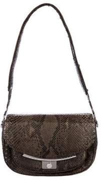 Hayward Snakeskin Flap Shoulder Bag