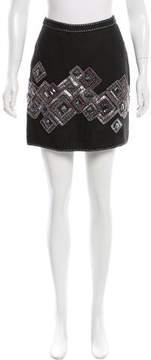 Andrew Gn Embellished Linen Skirt