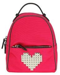 Les Petits Joueurs Women's Red Fabric Backpack.