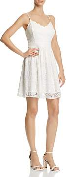 Aqua Scalloped Lace Fit-and-Flare Dress - 100% Exclusive
