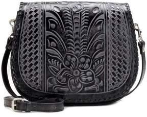 Patricia Nash Metauro Tooled Leather Saddle Bag