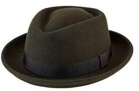 San Diego Hat Company Men's Wool Felt Pork Pie With Grosgrain Trim Sdh9447.